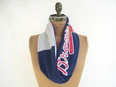 Atlanta Braves T Shirt Infinity Scarf / Eternity Scarf / by ohzie