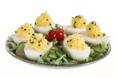 deviled eggs miniature dollhouse food 1:12 scale