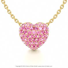 Pink Sapphire Pendant.  OMG they have this in all different stones and colors - I want them all!