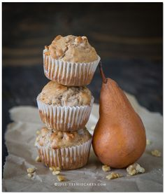 Pear & Walnut Muffins
