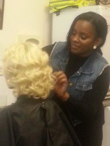 20140124 153632 e1390776216338 225x300 Curlformers for Blackhair and Hair magazine behind the scenes!