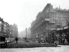 1904 Harrods Construction of Brompton Street Front Almost Complete.