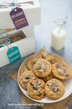 Double Chocolate Chunk Cookies with Sea Salt | the little kitchen