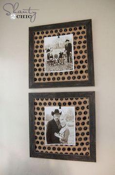 Fabric Photo Frames by @Shanty-2-Chic.com #MichaelsFabric