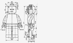 Technical drawing of the minifigure
