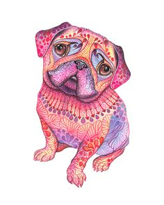 """""""Pugberry""""work process on Behance"""