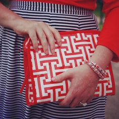Love the look!  #nautical #stripes #palm beach @April Golightly @Toss Designs @Just Madras