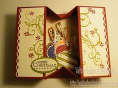 card making video tutorial : Making a simple Box card - YouTube ... fun creation ... she put tags inside but gift certificates, photos, bookmarks  origami flat  doll ... would be great too ...