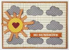 Hi Sunshine Card by Kim Holmes via Jillibean Soup Blog