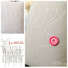 U Create has another free stitching pattern for winter! Add the button for a Christmas look or leave it off for a year-round rustic look!