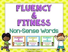 Get students up and moving while working on non-sense words!