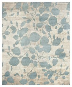 Modern Floral Design Rugs Gallery: Monet, Modern Floral Rug, Hand-knotted in Nepal; size: 10 feet 2 inch(es) x 14 feet 0 inch(es)