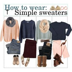 """""""How to wear: Simple sweaters."""""""