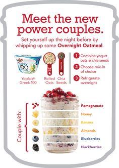 Overnight Power Oatmeal with Greek Yogurt