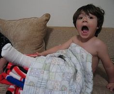 ahhhhhhh...broken leg for Elijah