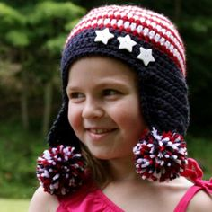 Stripes and Stars Hat..free pattern