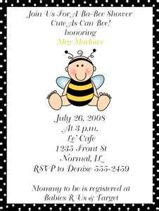 Bumble Bee Baby Shower Invitations-Bumble Bee Babee Baby Shower ...