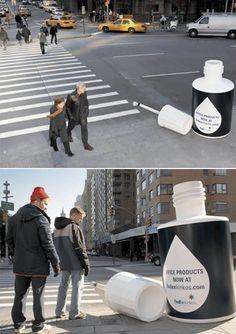 Fedex whiteout  cross walk ad
