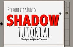 Silhouette School: Silhouette Studio Shadow Tutorial (No Designer Edition Needed)