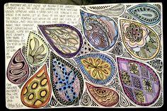 journal doodles, journal pages, journal art, art journals, altered books, tear drops, art diary, zentangle with text, helen keller