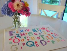 easy abc place mat