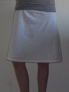 Skirt made from a t-shirt
