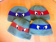 Ninja Turtle Crochet Hat by theyellowpalmtree on Etsy, $15.00