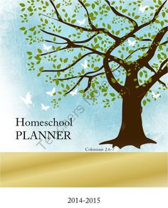 Homeschool Planner 2014-2015  - customizable from Kathy Hutto on TeachersNotebook.com -  (70 pages)  - Homeschool Planner 2014-2015