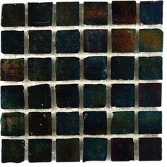 Iridescent Inkwell Glass Tile contemporary bathroom tile