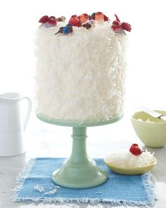 Sweet Paul's Lemon Curd Coconut Cake Recipe - I just love how it's decorated