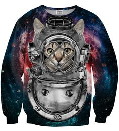 Astronaut cat sweate