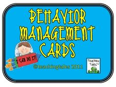 From Teaching Tales! Do you need an easy way to keep your students engaged without interrupting instruction?  Just use these behavior management cards whenever your stu...