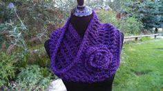 Soft and Stylish Cowl free crochet pattern crochet flowers, cowl pattern, free crochet, infinity scarfs, cowl free, crochet patterns, scarv, flower crochet, crochet cowls