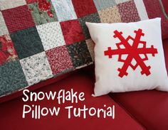 quilt, pillow tutori, holidays, cushion, handmade christmas gifts