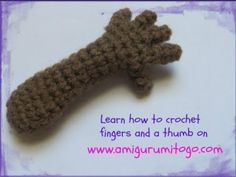 How To Crochet Fingers & A Thumb - Sharon Ojala