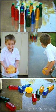 Bowling with ICE - a DIY bowling game for summer!