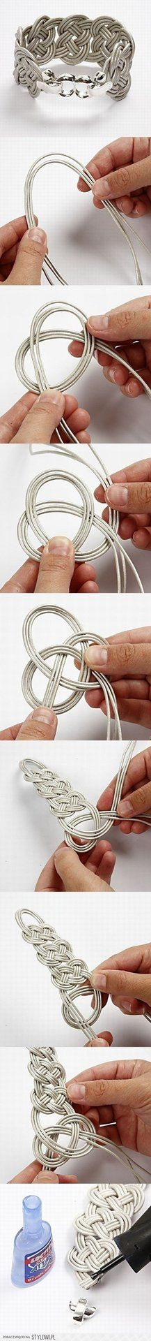 DIY bracelet Crafts Ideas, Celtic Knots, Knots Bracelets, Diy Tutorials, Braids Bracelets, Diy Bracelets, Knot Bracelets, Wire Bracelets, Leather Bracelets
