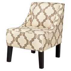 Hudson Upholstered Accent Chair - Luca Geometric Stone