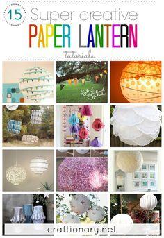 DIY Paper Lanterns (Best Ideas) - Craftionary