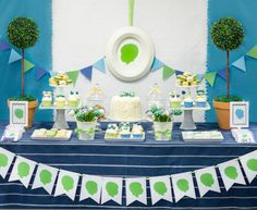 Silhouette Little Man first birthday party by Le Papier Studio & WH Hostess dessert tables, birthday parties, design throw, first birthdays, birthday party themes, 1st birthdays, chicago design, birthdayparti, silhouett theme