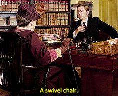 """Good heavens, what am I sitting on?"""