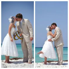 destin groom and bride photography by Mayya Dolis for Princess Wedding Co bride photographi, wedding beach, the kiss, brides, the dress, beach wedding photos, beach weddings, photo idea, bride groom