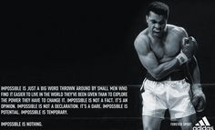 this is on the wall at my boxing gym, & it totally inspires me