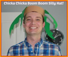 Chicka Chicka Boom Boom silly hat!  Free pattern!