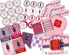 Saige American Girl Party Downloadable by LittleDoodlePrints, $15.00