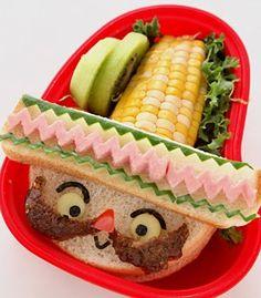 bento box, fun food, kid lunches, lunch boxes, sandwich, sombrero, snack, mexican fiesta, cinco de mayo