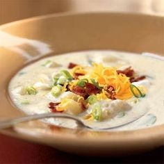Mmm. This easy potato soup recipe is hearty and delicious.