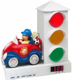 Stoplight Sleep Enhancing Clock. Smart - tell kid that he can't get up until the light is green.