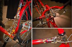 An ornate fixed gear bike from Sunrise Cycles at #NAHBS 2014