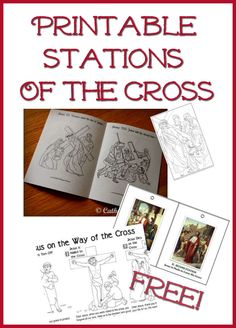 A round-up of stations of the cross coloring books, booklets, and more that you can print for free! :-)